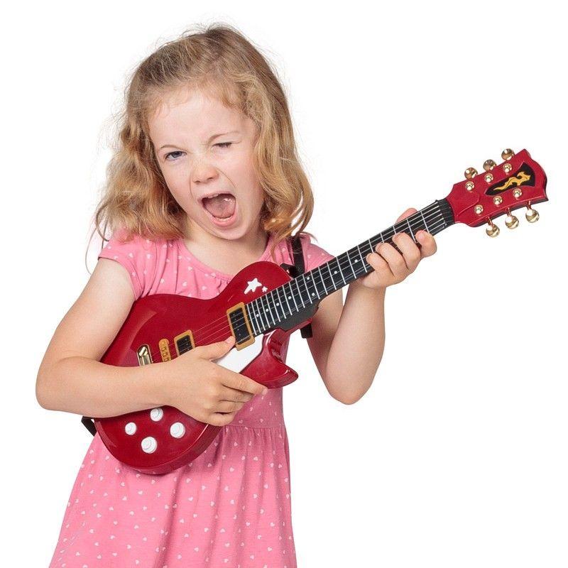 toddler playing guitar